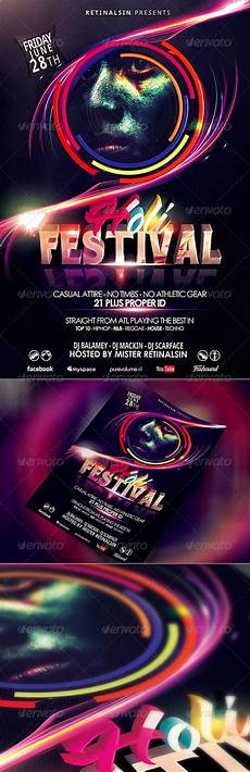 Flyer Color Holi Festival Flyer Template Quot Festival Of Colors Quot By