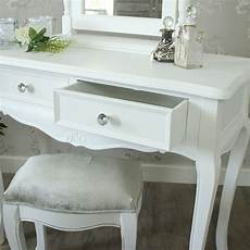 elise white range dressing table mirror and stool