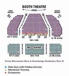 Chicago Theater Booth Seating Chart Booth Theatre Shubert Organization