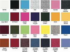 Jerzees Color Chart Jerzees 29m Skyline Printing Llc