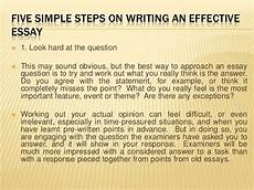 Effective Essay Five Simple Steps On Writing An Effective Essay