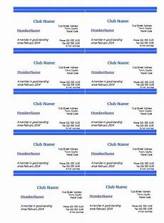 Free Membership Cards Club Membership Card Template Excel Pdf Formats