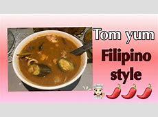 Tom yum soup Filipino style   YouTube