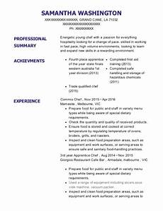 Apprentice Chef Resume Best Commis Chef Resumes Resumehelp