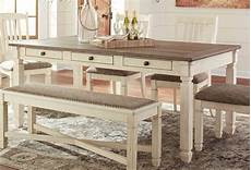 bolanburg white and gray rectangular dining room set free