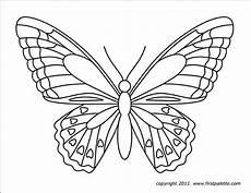 Ausmalbilder Schmetterling Kostenlos Ausdrucken Butterflies Free Printable Templates Coloring Pages