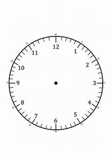 Clock Printout Clock Faces For Use In Learning To Tell The Time