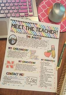 Meet The Teacher Newsletter Templates Meet The Teacher Newsletter Template Editable Bright