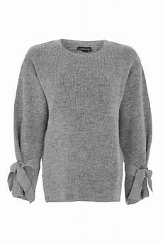 knit jumper soft tie sleeve knit jumper topshop