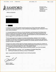 Award Acceptance Letter Example 6 College Acceptance Letter Sample Sales Slip Template