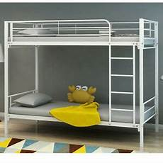 Panana 2 X 3ft Single Metal Bunk Bed 2 by Panana White Metal Single Bunk Bed 3ft Bedroom Furniture