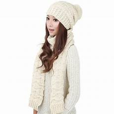 Designer Hat And Scarf Set Women S Women S Winter Knitted Scarf And Hat Set Thicken Knitting
