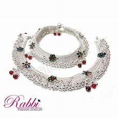 Bajubandh Designs In Silver Jodha Style Beautiful Design Silver Plated Bridal Anklet