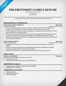 Phlebotomist Duties Resume Phlebotomist Resume Sample Http Resumecompanion Com