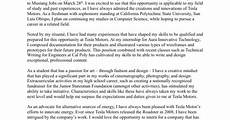Tesla Motors Cover Letter Cover Letter Tesla Motors Job Application Powered By