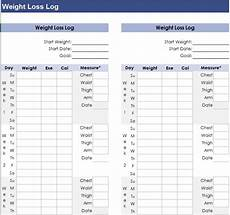 Weight Loss Sample 13 Free Sample Weight Loss Log Templates Printable Samples