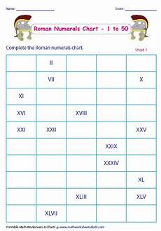 Roman Number 1 To 50 Chart Roman Numerals Chart