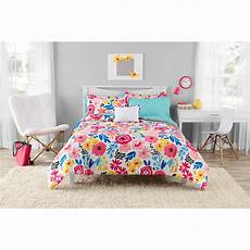 mainstays floral bed in a bag bedding walmart inventory