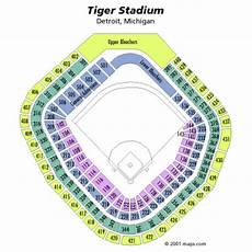 Detroit Tigers Seating Chart With Rows Tiger Stadium Seating Chart Seating In Tiger Stadium
