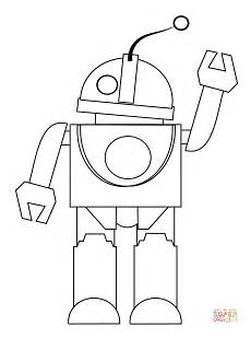 Supercoloring Robot Robot Says Hi Coloring Page Free Printable Coloring Pages