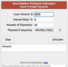 Principle And Interest Calculator Amortization Schedule Calculator Equal Principal Payments