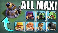 Clash Of Clans Max Levels Chart Gem To Max Finally All New Max Level Troops Clash Of