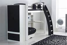 scallywag exclusive high sleeper bed with desk shelves