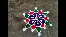 Color Kolam Designs With Dots Colour Rangoli With Dots Small Easy Simple Kolam