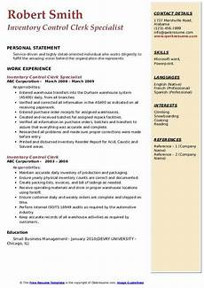 Inventory Control Clerk Resume Inventory Control Clerk Resume Samples Qwikresume