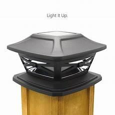 Outdoor Solar Post Cap Lights Davinci Solar Post Lights Outdoor Post Cap Light For