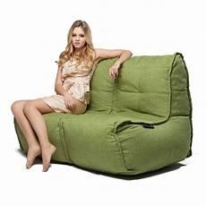 2 seater green sofa designer bean bag green