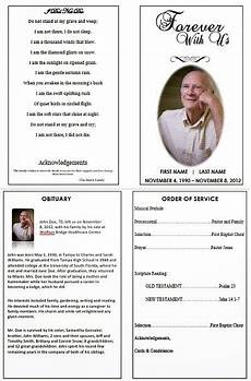 How To Make A Funeral Program The Funeral Memorial Program Blog January 2014