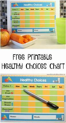 Healthy Chart Free Healthy Choices Printable Amp Munchkins