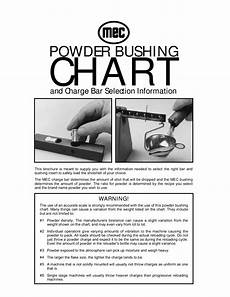 Lee Powder Bushing Chart Mec Powder Bushing Chart By Graf Amp Sons Inc Issuu