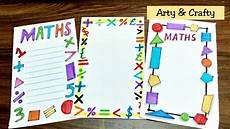 Maths Cover Page Design Maths Border Border Design On Paper Easy Border For