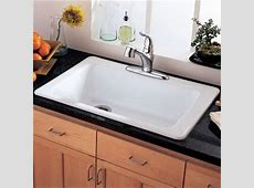 American Standard 7193.000.208 Lakeland 33 Inch Americast Large Single Bowl Kitchen Sink, White