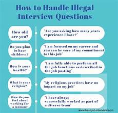 Answers To Interview Questions Illegal Interview Questions What Job Candidates Can T Be