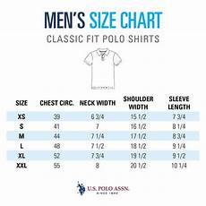 Polo Ralph Size Chart Mens Size Guide Men S Polo Shirts U S Polo Assn