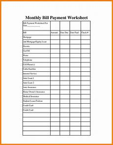 Template For Bills Monthly Bills Template Charlotte Clergy Coalition