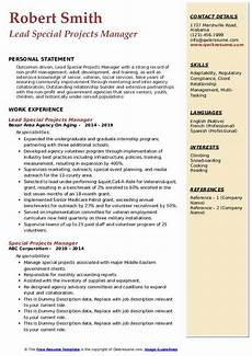 Non Profit Resume Mentoring Program Modern Special Projects Manager Resume Samples Qwikresume