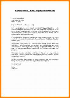 Birthday Invitation Letter Invitation Letter For Birthday Letters Free Sample Letters
