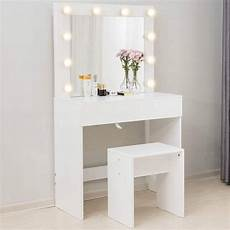Vanity Table Set With Lights Mecor Makeup Vanity Table W 10 Led Lights Mirror Vanity