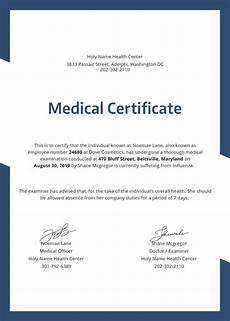 Medical Certificate Templates 28 Medical Certificate Templates In Pdf Free Amp Premium