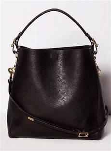 British Designer Bags Young British Designers Black Stamped Leather Bucket Bag