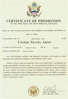 Officer Promotion Certificate Template Officer Promotion Certificate Template Army Di 2020