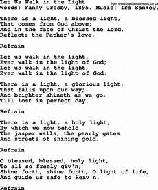 Stand In The Light Lyrics Let Us Walk In The Light By Crosby Hymn Lyrics