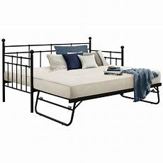 metal day bed daybed frame and trundle guest underbed
