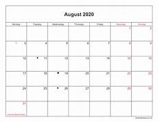 August 2020 Calendar With Holidays August Bank Holiday 2020