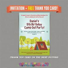 Print At Home Invitations Camp Out Camping Birthday Party Printable Invitation With