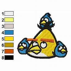 Angry Bird Designs Yellow And Blue Birds Angry Birds Embroidery Design